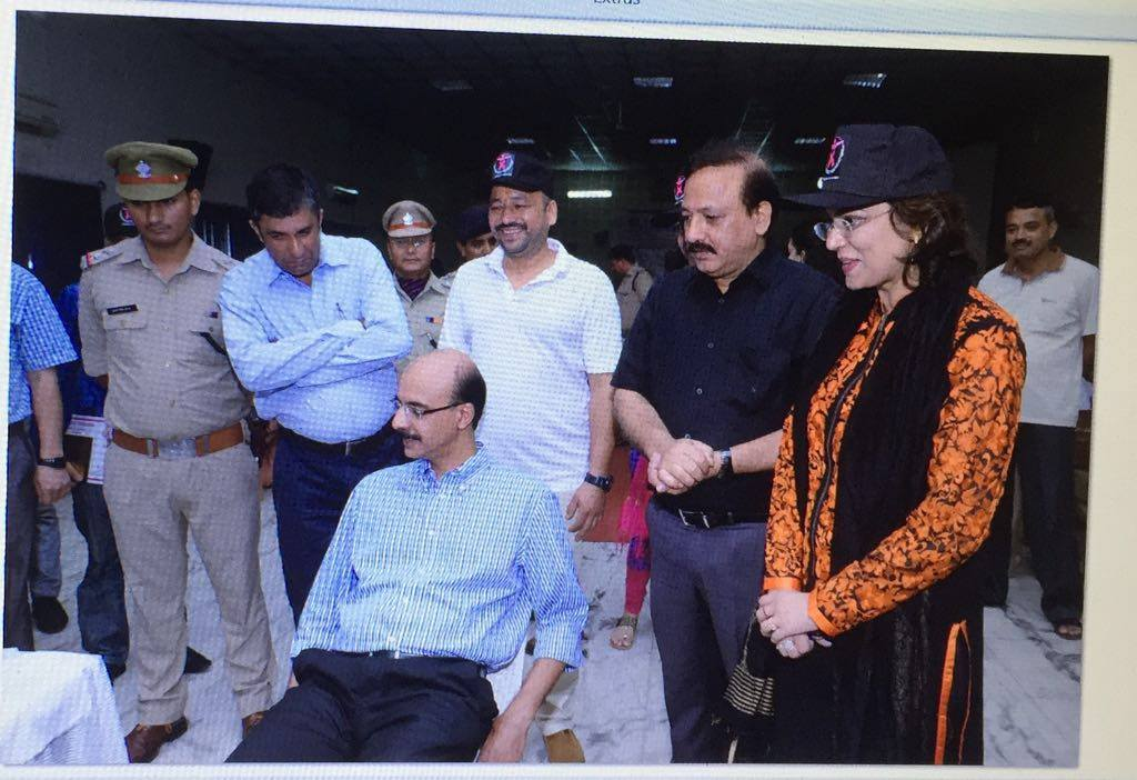 Over 300 police personnel and their family members in Multi Speciality Free Health Camp