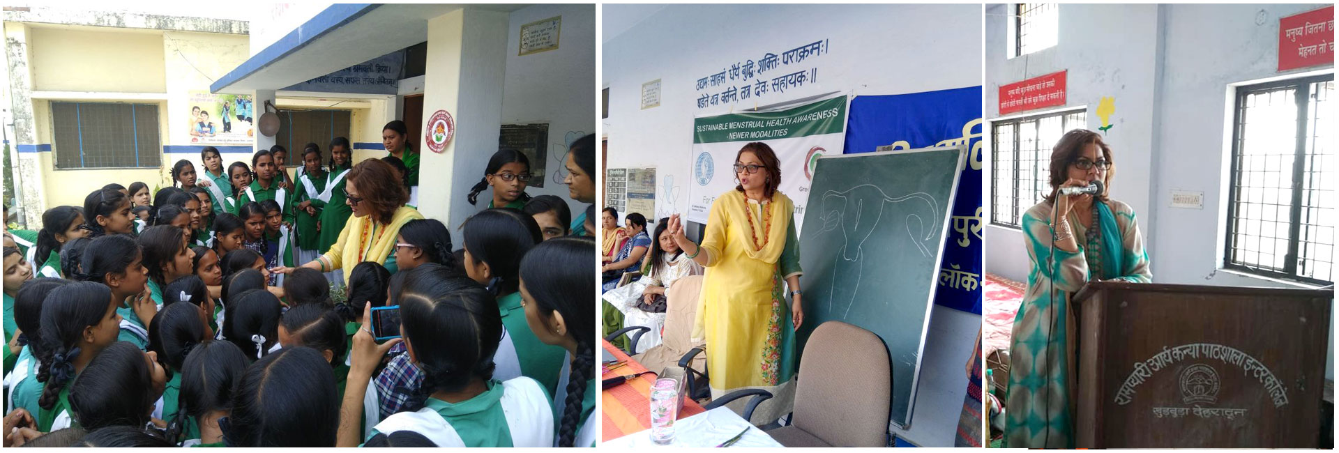 Dr Sumita Prabhakar gave interactive health talk on Menstrual Hygiene Management