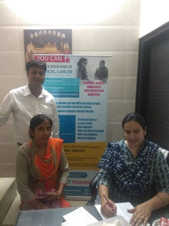 Free Health Camp organised in Meerut for Gynaecological Disorders and Breast Checkup