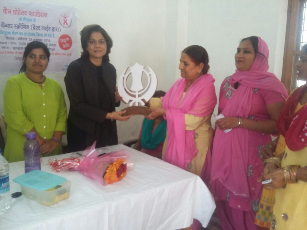 Breast Cancer Screening Camp organized at Karanpur, Dehradun, Uttarakhand