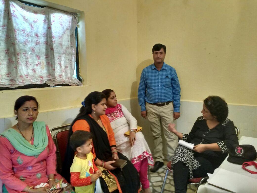 Breast cancer awareness talk and camp at Dakra, Dehradun, Uttarakhand