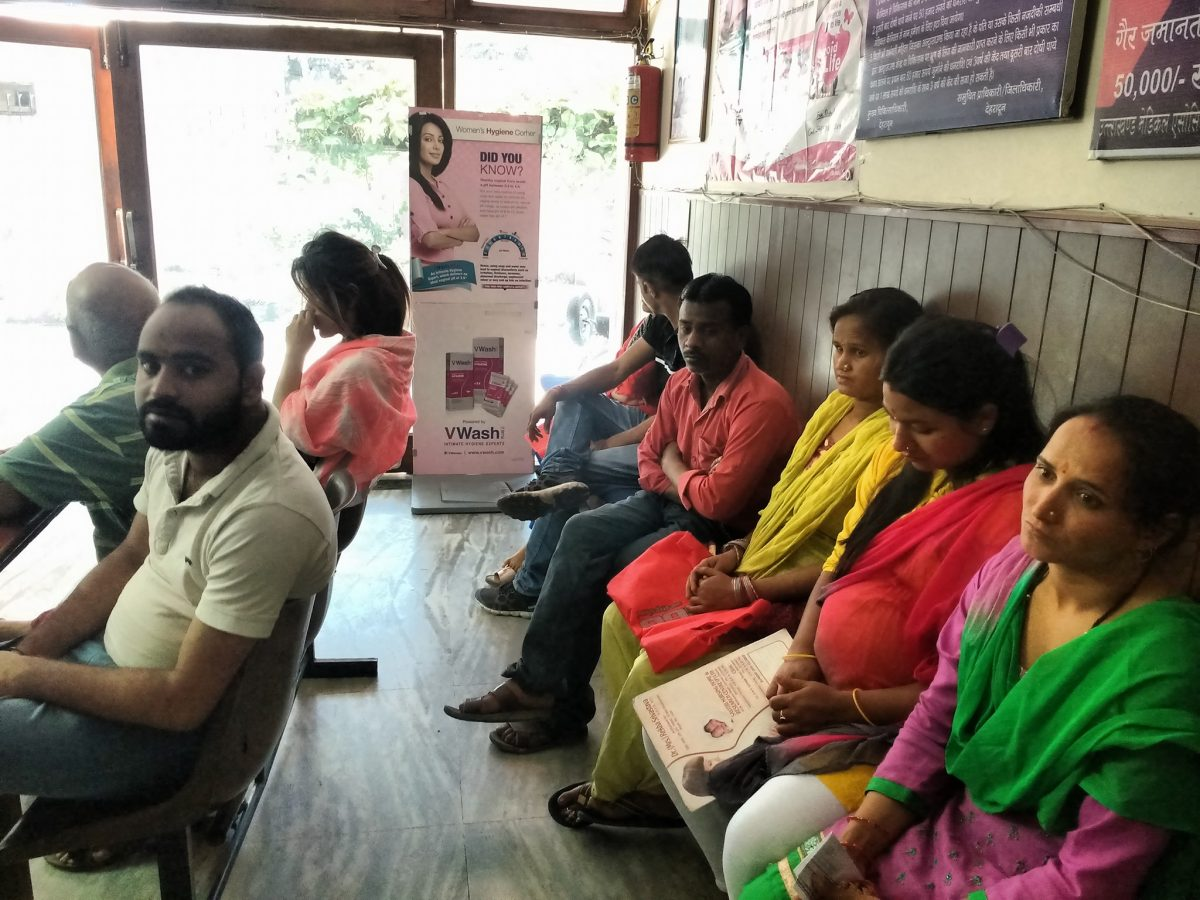Women participated in the Free Breast Cancer screening Camp