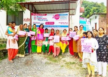 Breast cancer awareness for women at Purkul Village, Uttarakhand